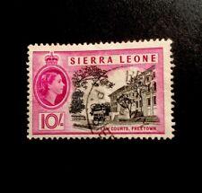 sierra leone Sg 219 1956 QE2 Chestnut Fine Used