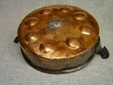Kupferpfanne Ø 25 cm mit Griffen, handgefertigt, rustikal