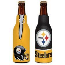 Pittsburgh Steelers ~ (1) Beer Bottle Coolie Koozie Holder Zipper Huggie ~ New!