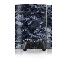 Sony PS3 Console Skin - Digi Navy Camo Blue - DecalGirl Decal