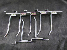 "4"" Slatwall Metal Hooks Chrome Plated (Lot Of 7) *Nnb*"