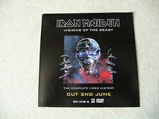 IRON MAIDEN Visions Of The Beast Promo Sticker  Unused