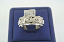 SOLID 14K WHITE GOLD 1.50 CT DIAMOND MEN'S WIDE BAND RING SIZE 10.5,S102300