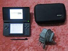 Nintendo DS Lite Spiele Konsole in Schwarz mit Tasche und original Ladekabel