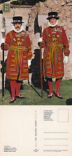 1980's BEEFEATERS AT THE TOWER OF LONDON LONDON UNUSED COLOUR POSTCARD