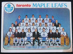 1978 79 Topps Set Break Toronto Maple Leafs Team #206 Hockey Card EX stain