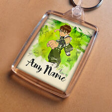 Ben 10 Personalised Keyring, Party Bag Filler, Keychain Son Nephew Brother