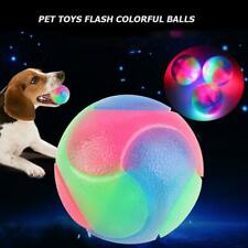 Pet Toy Ball Rubber Bite Resistant Teeth Cleaning Elastic Glow Dog Chew Toy