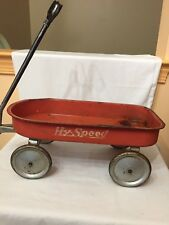 Vintage Hy-Speed Red Wagon with Steel Wheels