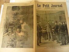 PETIT JOURNAL- 1893 - N° 139 - émeutes fermeture bourse PARIS / omnibus incendie