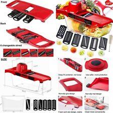 Mandolina cortador rallador picador de verdura,etc,Libre de BPA,6 cuchillas inox