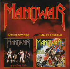 Manowar – Into Glory Ride / Hail To England   CD NEW SEALED