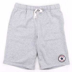 CONVERSE Grey Regular Sports Woven Shorts Boys L W30