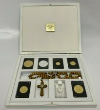 More details for pope john paul ii 24ct proof gold coins & medal set 40th anniversary dublin mint