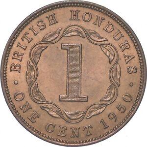 Better - 1950 British Honduras 1 Cent - TC *259