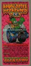 Day Glo Black Light Punk Rock Hot Rod Monster VTG 2001 Heavy Rebel Poster SPINE