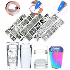 BORN PRETTY Jelly Silicone Clear Nail Stamper DIY Nail Art Stamping Plates Tool