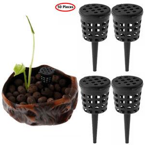 50x Plants Fertilizer Basket Mesh Box Cover w/Lid for Flower Pot Bonsai Orchid