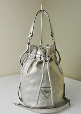 Guess Moondance Silver Convertible Drawstring Bucket Shoulder Bag