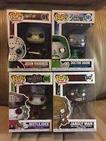 Funko Pop! Lot Jason Voorhees Beetlejuice Jangly Man Doctor Doom Some BOX Damage