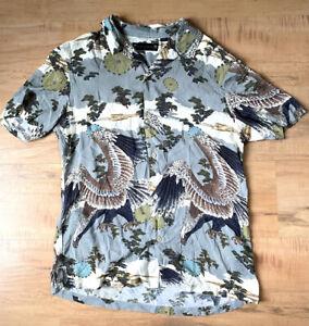 All Saints ALLSAINTS S/S Eagle Bird Shirt Size Medium Mens