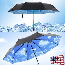 Womens Windproof Folding Parasol for Anti-uv Sun Protection Umbrellas Rain UPF