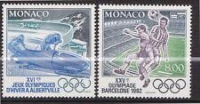 Monaco - 1992 - Jeux Olympiques  - N° 1811 / 1812  - Neufs ** - MNH