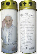 POPE FRANCIS DEVOTIONAL HOLY CANDLE 100's OF STATUES AND PICTURES ALSO LISTED