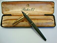 Boxed Parker 61 in dark grey fountain pen with gold plated cap