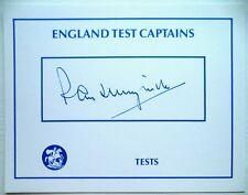 RAY ILLINGWORTH ENGLAND TEST CRICKET CAPTAIN 1969-73 – ORIGINAL INK AUTOGRAPH