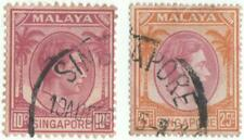 Singapore 1948 x 2 stamps...S.G. 7 & 10