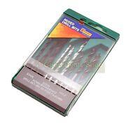 New 9 Pc Piece Mix Drill Bit Set  Wood  Masonary Light  Alloy Plastic Case 88C