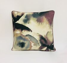"Harlequin Flores Damson/Viola/Blush 20x20"" Contrast Piped Cushion Cover"