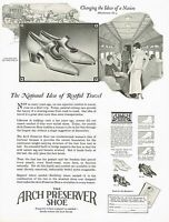 1920s BIG Vintage Selby Arch Preserver Shoes Fashion Footwear Art Print Ad