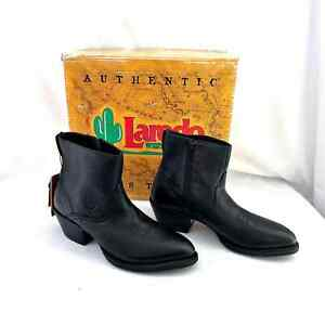 NWT Men's Ariat Black Leather Deputy Side Zip Cowboy Boots 10005971 Size 8 1/2 D