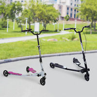 3 Wheels Kids Scooter Push Swing Scooter for Age 8+ Height Adjustable