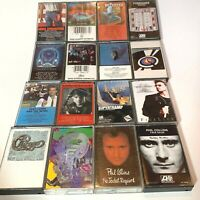 Lot of 16 Classic Rock Cassette Tapes REO Journey Boston Springsteen Kansas more