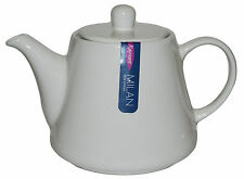 Rayware Milan 800ml Teapot White Porcelain 0.8 Litre Tea Coffee Pot