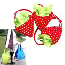 5PCS Foldable Strawberry Reusable Carrier Shopping Tote Bag Friendly Grocery Bag