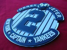 DEREK JETER 3D art sign YANKEES NEW YORK man cave  baseball HOF NY Fame ball 2