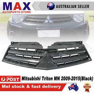 Front Grille Mesh Black for Mitsubishi Triton MN 2009-2015 2 Horizontal Bar