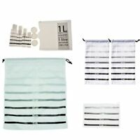Travel Bottle Kit Clear Airline Flight Toiletries Liquid Containers + FOUR BAGS