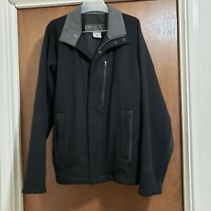 Mens columbia winter jacket, black wool coat size medium