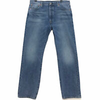 Levi's 501 Jeans Mens Sz 36 x 32 Button Fly Medium Dark Blue Denim Wash