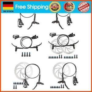 WANGQI Fahrrad Scheibenbremse Set, Bremsgriff MTB-Hydraulik-Scheibenbremssa
