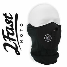 Black Half Face Fleece & Neoprene Face Mask With Ventilation Motorcycle Honda