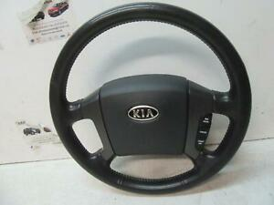 KIA SORENTO STEERING WHEEL LEATHER, BL, 02/03-09/09 03 04 05 06 07 08 09