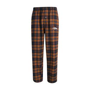 Denver Broncos NFL Mens Flannel Plaid Pajama Lounge Bottoms, Size Medium, NWT