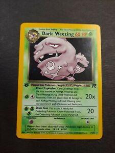 1999 Pokemon TCG 1st Edition Dark Weezing HOLO  #14/82 Rocket Set NM!
