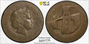 Great Britain 2005 £1 Pound Mint Error Struck on 5.8 Brass Planchet PCGS MS60
